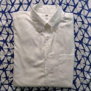 Uniqlo White Men's Button Down Shirt Size S